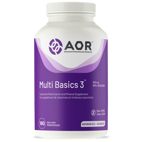 AOR Multi Basics 3, 180 Vegetable Capsules | NutriFarm.ca