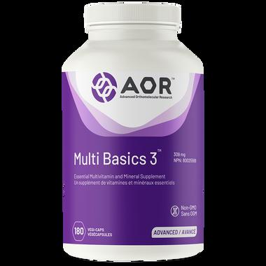 AOR Multi Basics 3, 180 Vegetable Capsules   NutriFarm.ca