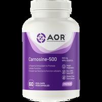 AOR Carnosine-500, 60 Vegetable Capsules | NutriFarm.ca