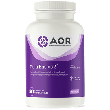 AOR Multi Basics 3, 90 Vegetable Capsules | NutriFarm.ca