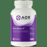 AOR Multi Basics 3, 90 Vegetable Capsules | NutriFarm.ca