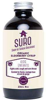 SURO organic elderberry syrup for KIDS 236 ml | NutriFarm.ca