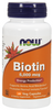 NOW Biotin 5000 mcg, 120 Capsules   NutriFarm.ca