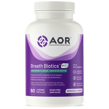 AOR Advanced Breath Biotics, 60 Lozenges | NutriFarm.ca