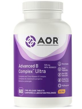 AOR Advanced B Complex Ultra, 60 Tablets | NutriFarm.ca
