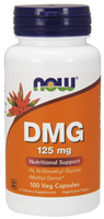 NOW DMG 125 mg, 100 Vegetable Capsules | NutriFarm.ca