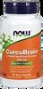NOW CurcuBrain Longvida 400 mg, 50 Vegetable Capsules   NutriFarm.ca