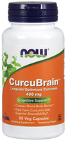 NOW CurcuBrain Longvida 400 mg, 50 Vegetable Capsules | NutriFarm.ca