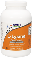 NOW Lysine Powder 100%, 454 g | NutriFarm.ca