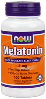 NOW Melatonin 1 mg, 100 Tablets | NutriFarm.ca