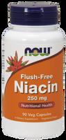 NOW Niacin Flush Free 250 mg, 90 Vegetable Capsules | NutriFarm.ca