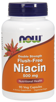 NOW Niacin Flush Free 500 mg, 90 Vegetable Capsules | NutriFarm.ca