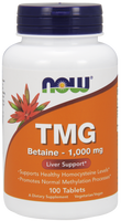 NOW TMG 1000 mg, 100 Tablets | NutriFarm.ca