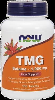 NOW TMG 1000 mg, 100 Tablets | NutriFarm.ca