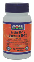 NOW Brain B-12(Methyl B-12 1000 mcg), 100 Lozenges | NutriFarm.ca
