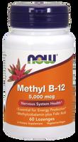 NOW Methyl B-12 5000 mcg, 60 Lozenges | NutriFarm.ca