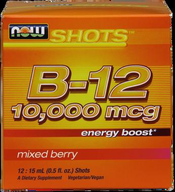NOW B12 Instant Energy 10,000 mcg, 15 ml*12 quantities | NutriFarm.ca