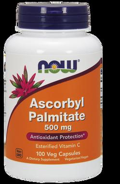 NOW Ascorbyl Palmitate 500 mg, 100 Vegetable Capsules   NutriFarm.ca