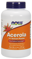 NOW Ascerola 4:1 Extract Powder, 170 g | NutriFarm.ca