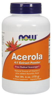 NOW Ascerola 4:1 Extract Powder, 170 g | NutriFarm.ca