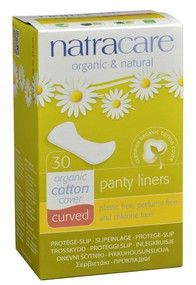 Curved Panty Liners, 30 curved liners   NutriFarm.ca