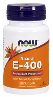 NOW E-400 IU Mixed Tocopherols, 250 Softgels | NutriFarm.ca