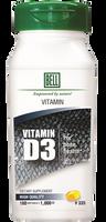 Bell Vitamin D3 1000 IU, 180 Softgels | NutriFarm.ca