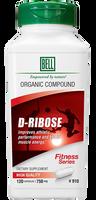 Bell D-Ribose 750 mg, 120 Capsules | NutriFarm.ca