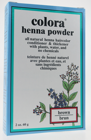 Colora Henna Powder Natural Organic Hair color (Brown), 60 g | NutriFarm.ca