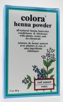 Colora Henna Powder Natural Organic Hair color (Red Sunset), 60 g | NutriFarm.ca