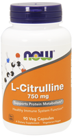 NOW L-Citrulline 750 mg, 90 Vegetable Capsules | NutriFarm.ca