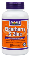 NOW Elderberry and Zinc Plus, 30 Lozenges | NutriFarm.ca