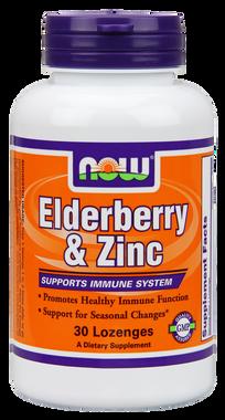 NOW Elderberry and Zinc Plus, 30 Lozenges | NutriFarm.ca