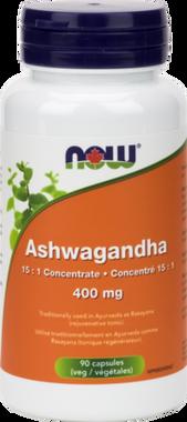 NOW Ashwagandha extract 400 mg, 90 Vegetable Capsules | NutriFarm.ca