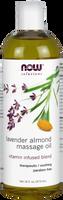 NOW Lavender Almond Massage Oil, 473 ml | NutriFarm.ca