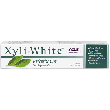 NOW Xyliwhite Refreshmint Toothpaste gel, 181 g   NutriFarm.ca
