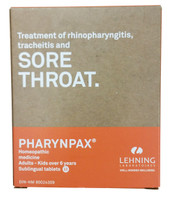 LEHNING Sore Throat, 60 Tablets | NutriFarm.ca