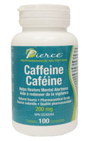 Pierce Performance Nutrition Caffeine 200 mg, 100 Tablets | NutriFarm.ca