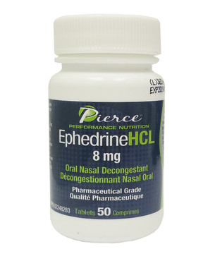 Pierce Performance Nutrition Ephedrine HCL 8 mg, 50 Tablets | NutriFarm.ca