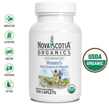 Nova Scotia Organics Women's Multivitamins & Minerals, 120 Caplets | NutriFarm.ca