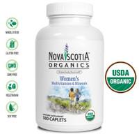 Nova Scotia Organics Women's Multivitamins & Minerals, 180 Caplets | NutriFarm.ca
