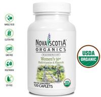 Nova Scotia Organics Women's 50+ Multivitamins & Minerals, 120 Caplets | NutriFarm.ca