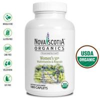 Nova Scotia Organics Women's 50+ Multivitamins & Minerals, 180 Caplets | NutriFarm.ca