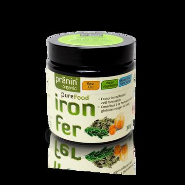 Pranin Organic PureFood Iron, 30 g | NutriFarm.ca