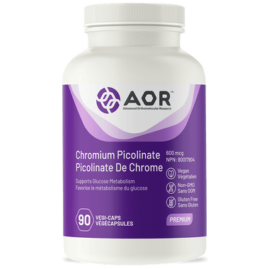 AOR Chromium Picolinate, 90 Vegetable Capsules | NutriFarm.ca