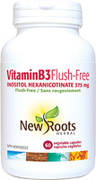 New Roots Vitamin B3 Flush Free 375 mg, 60 Capsules | NutriFarm.ca