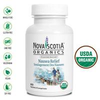 Nova Scotia Organics Nausea Relief, 60 Tablets | NutriFarm.ca