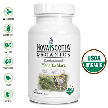 Nova Scotia Organics Maca, 120 Tablets | NutriFarm.ca