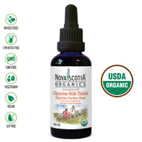 Nova Scotia Organics Glycerin Milk Thistle Tincture, 50 ml | NutriFarm.ca