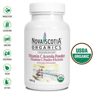 Nova Scotia Organics Vitamin C, 100 g | NutriFarm.ca